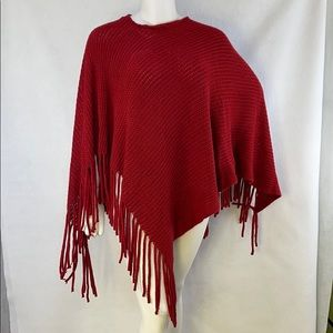 NWT Coco + Carmen sweater poncho with fringes